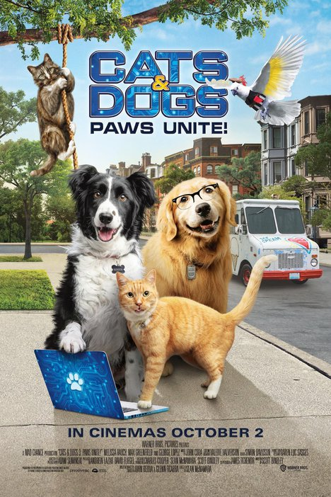 Cats & Dogs 3: Paws Unite film page poster
